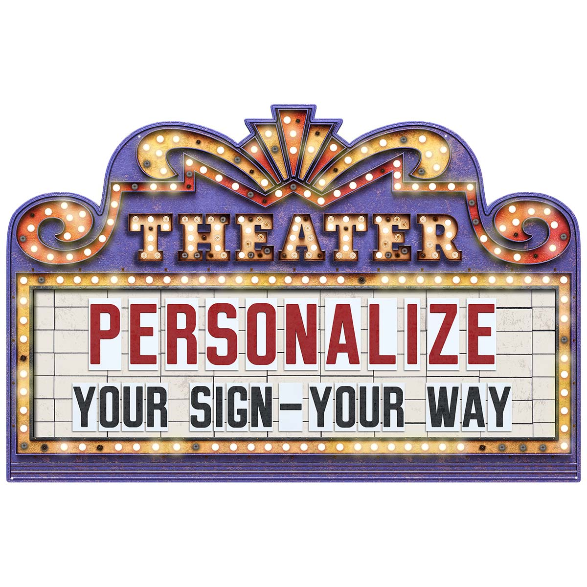 Personalized Home Theater Marquee Sign At Retro Planet
