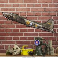 B17 Flying Fortress Bomber Sign Large Cut Out 42 x 13