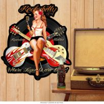Rockabilly Recording Studios Pin Up Sign Large Cut Out 22 x 24