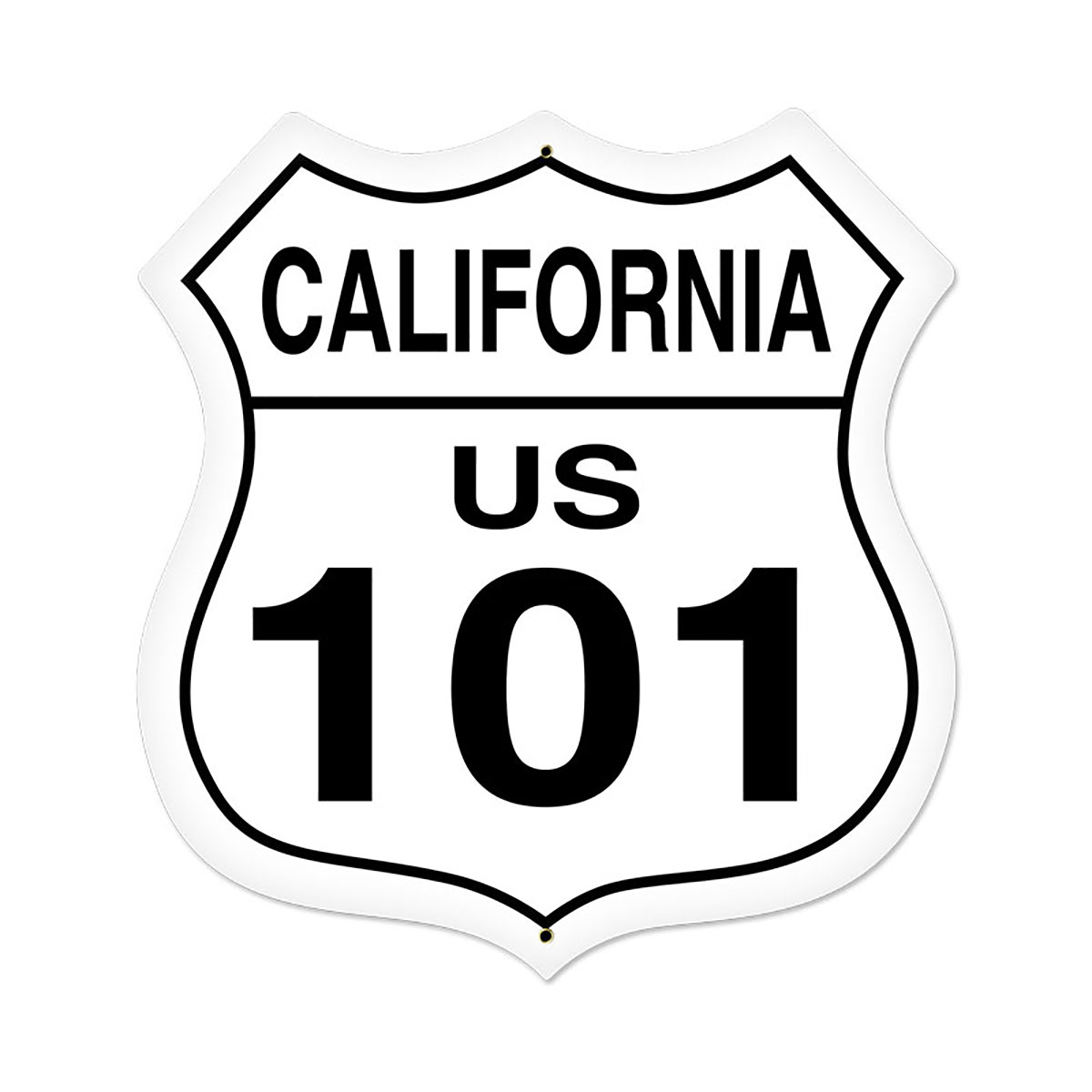 California Route 101 Highway Shield Sign Large 28 X 28 At