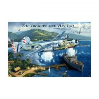 Dragon & His Tail B-24J Liberator Bomber Plane Sign Large 36 x 24