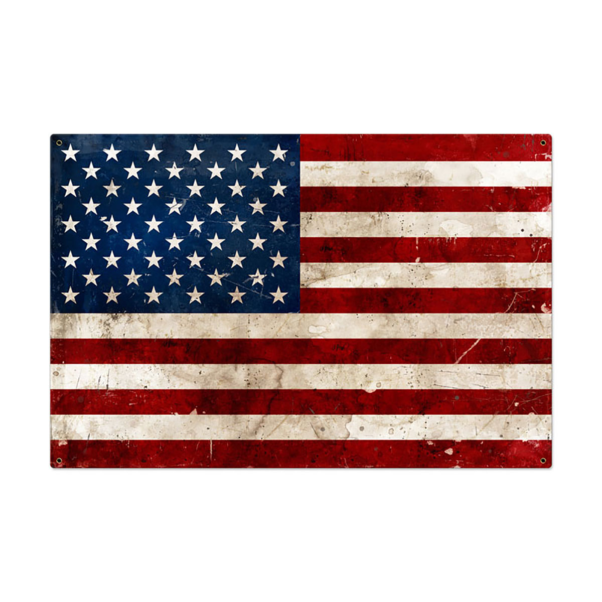 30ca21787f3d US American Flag Old Time Distressed Sign Large 36 x 24 at Retro Planet