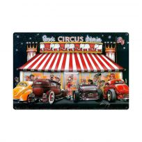 Bozos Circus Drive In Diner Hot Rod Sign Large 36 x 24