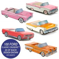 Classic Cruisers ® Ford Cars Party Pack of 100