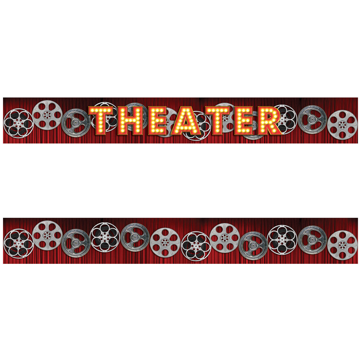 Theater Curtain Film Reels Wall Decal Border Movie Room Decor - Vinyl wall decals borders