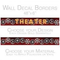 Theater Curtain Film Reels Peel and Stick Wall Border