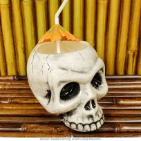 Human Skull Pirate Skeleton Tiki Mug 14 oz Large
