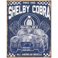 Shelby Cobra American Muscle Car Garage Tin Sign