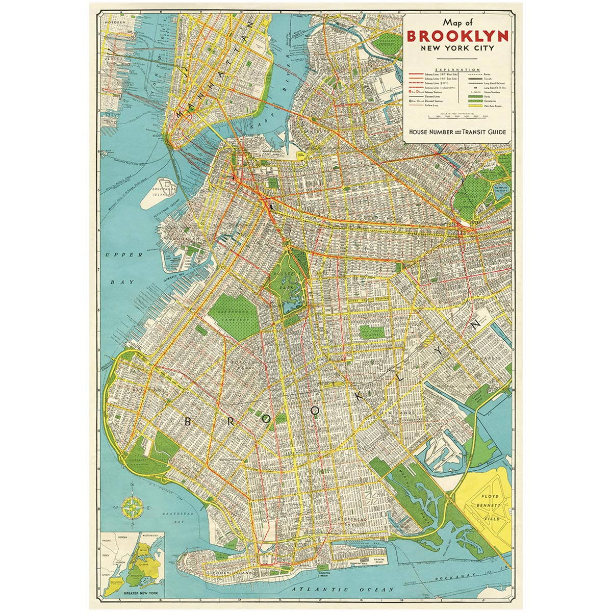 Brooklyn New York Map Poster Vintage Style on los angeles map, hells kitchen map, queens map, bronx map, park slope map, bensonhurst map, yankee stadium map, crown heights map, grand central station map, manhattan map, new york map, las vegas map, prospect park zoo map, harlem map, greenwich village map, nyc map, long island map, new paltz map, ny county map, white plains map,
