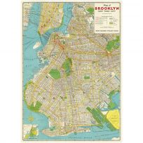 Brooklyn New York Map Poster Vintage Style