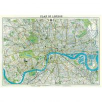 London England Street Map Poster Vintage Style