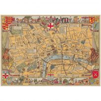 London England Vintage Style Street Map Poster_D