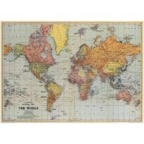 General Vintage Style Political World Map Poster