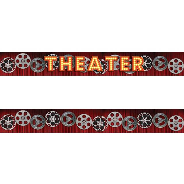 Home Theater Curtain Film Reels L And Stick Wall Border Set At Retro Planet
