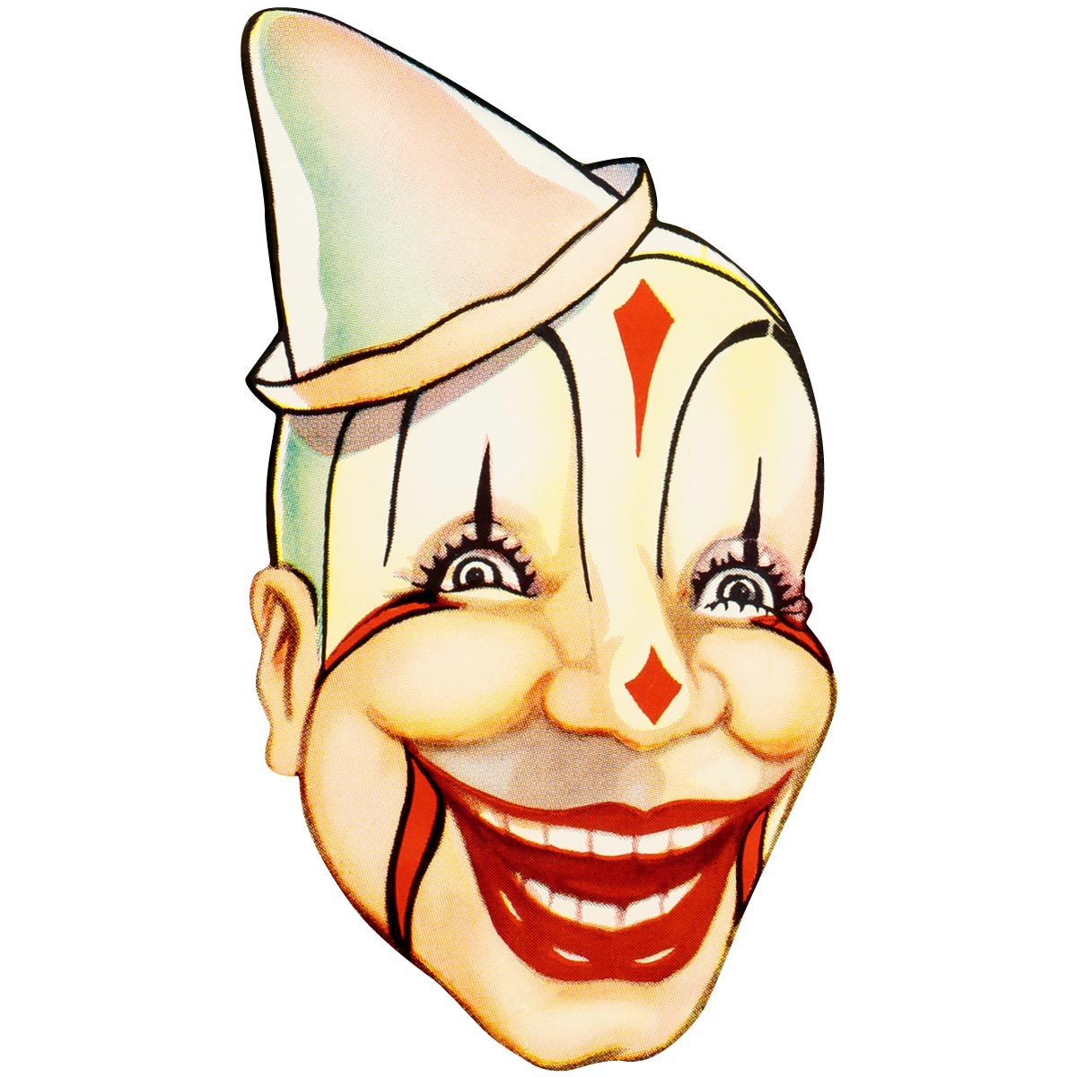 Clyde Brothers Circus Clown Old Timey Wall Decal | Halloween Party ...