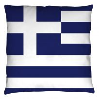 Greek National Flag Throw Pillow
