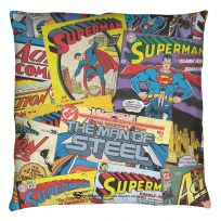 Superman Fan DC Comic Book Covers Throw Pillow