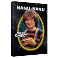 Mork & Mindy Nanu-Nanu Egg Art Canvas