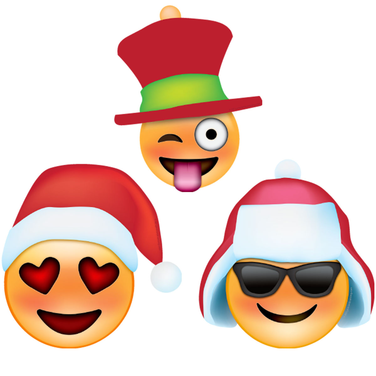 hover to zoom - Christmas Smiley Faces