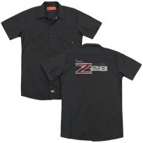 Chevy Camaro Z28 Chrome Script Work Shirt