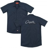 Chevy Corvette Stingray Retro Logo Work Shirt