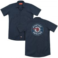 Pontiac Service Distressed Logo Work Shirt