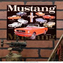 Ford Mustang Collage Garage Muscle Car Metal Sign