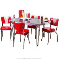 V Back Chairs with Large Oval Table Set