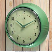 Green Fifties-Style Kitchen Wall Clock