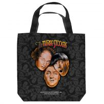 Three Stooges All Over Tote Bag