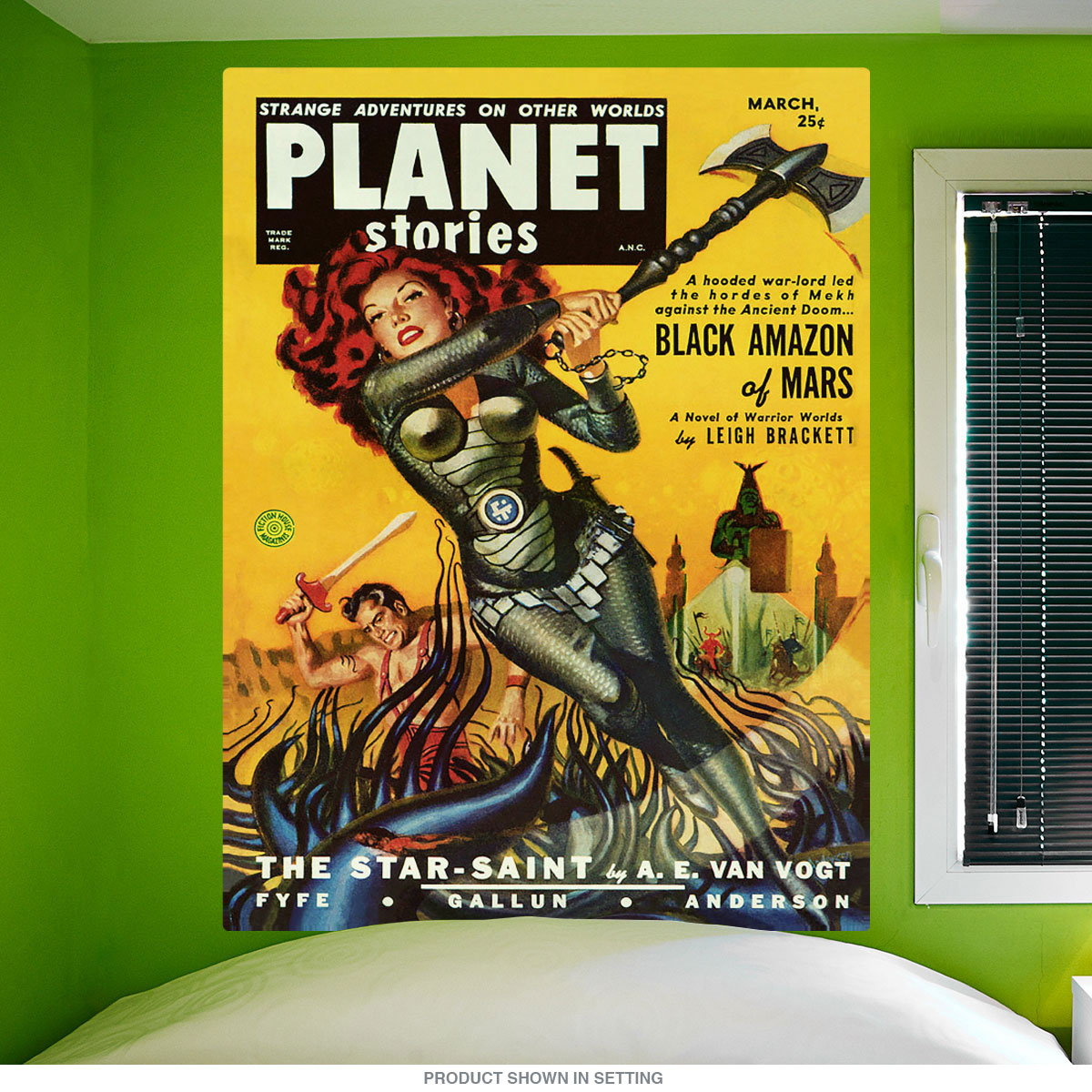 Planet Stories Black Amazon Of Mars Wall Decal | Vintage Style Decor ...