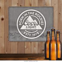 Coors Light Born In The Rockies Tin Sign