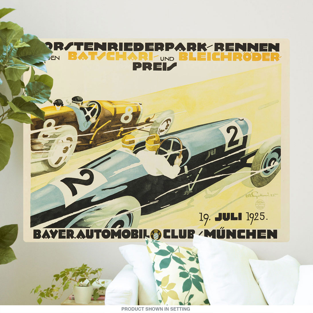 1925 Forstenrieder Park German Auto Race Wall Decal