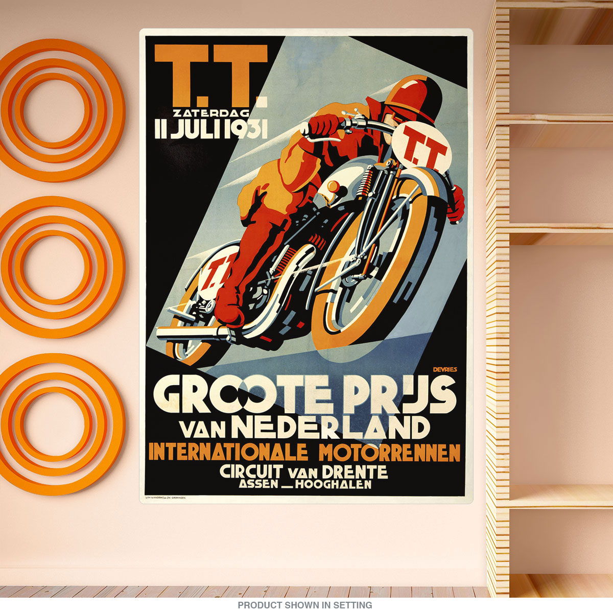 1931 Dutch Grand Prix Motorcycle Race Wall Decal