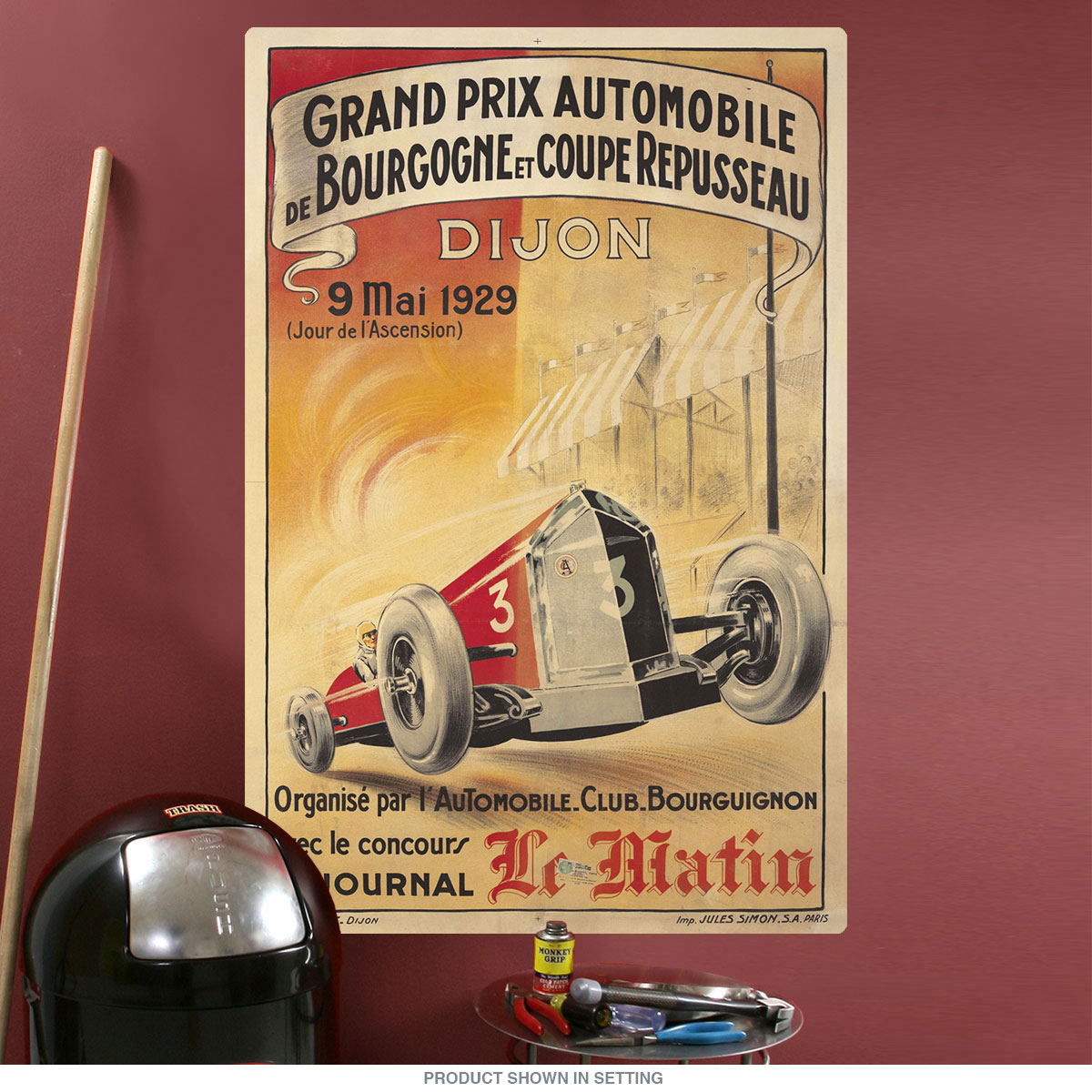 1929 Grand Prix Dijon France Auto Race Wall Decal