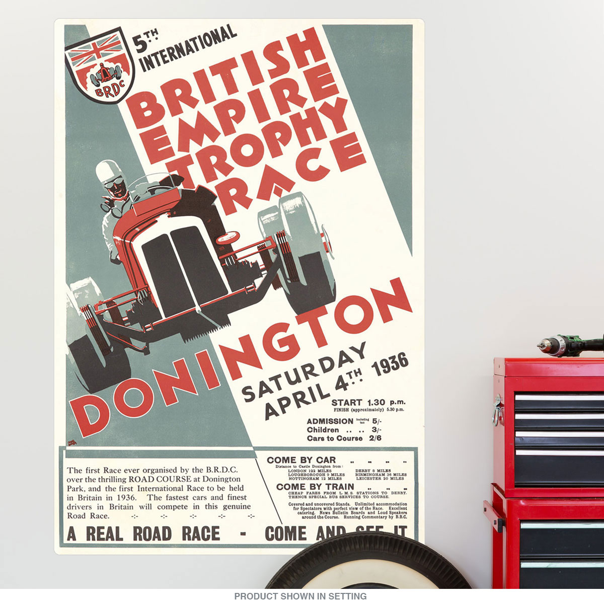1936 British Empire Trophy Auto Race Wall Decal