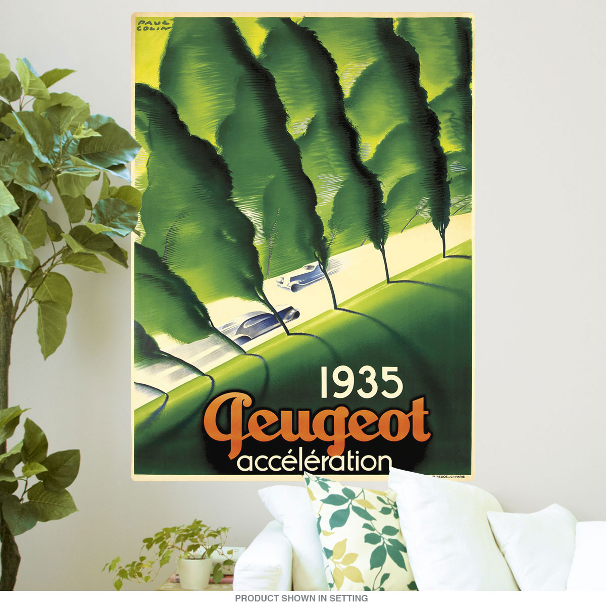 1935 Peugeot Acceleration Car Wall Decal