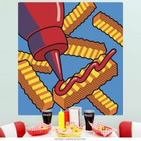 French Fries with Ketchup Pop Art Wall Decal