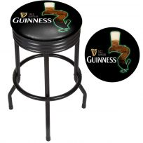Guinness Feather Ribbed Swivel Bar Stool Black