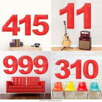 Numbers Distressed Distressed Porcelain Look Cut Out Signs 36 in