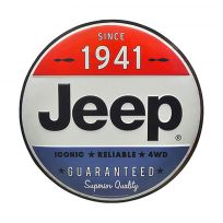 Jeep Since 1941 Patriotic Embossed Metal Sign