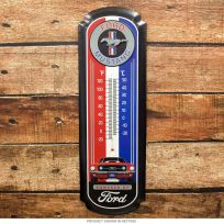 Ford Mustang Sports Car Embossed Thermometer Large