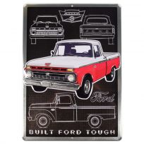 Ford Classic Pickup Truck Embossed Metal Sign