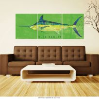 Blue Marlin Saltwater Fish Large Metal Signs