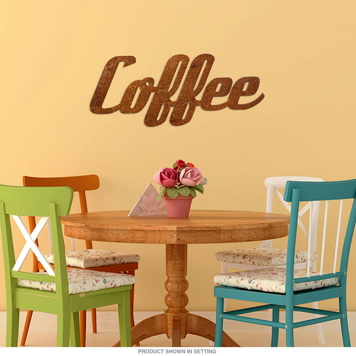 Coffee Word Rusted Look Large Cut Out Sign 36 In | Kitchen Decor ...
