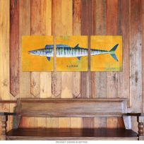 Wahoo Saltwater Fish Large Metal Signs