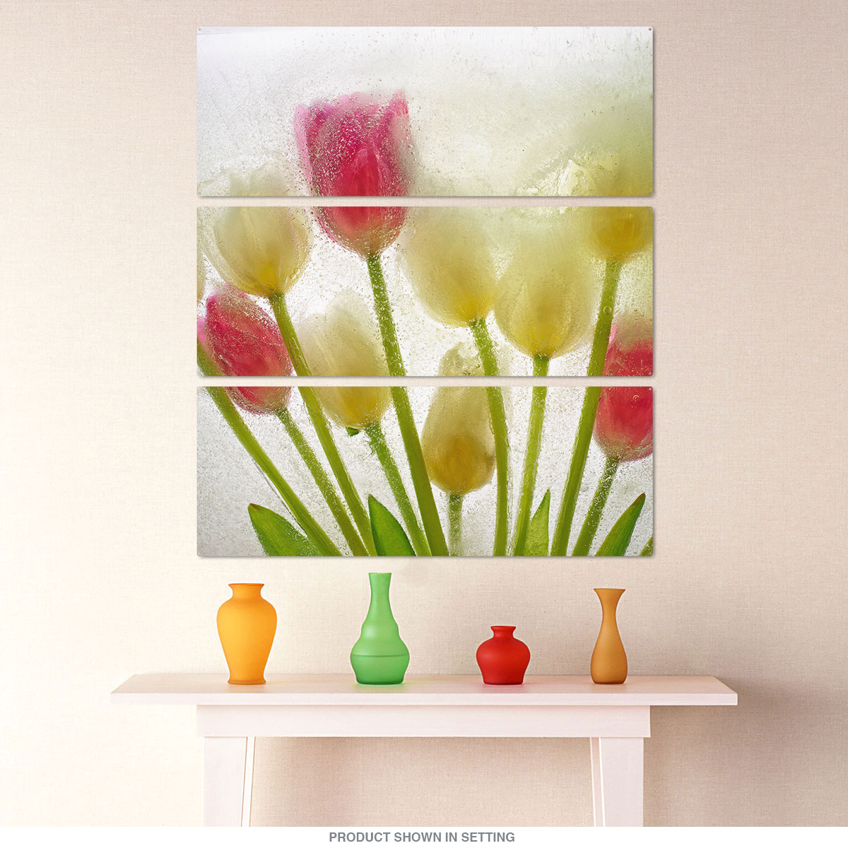 Frozen Tulips Floral Triptych Metal Wall Art   Large Sign Sets ...