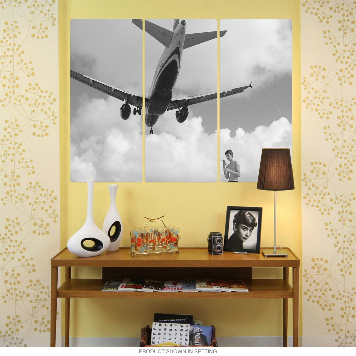 Airplane Over Beach Boy Triptych Metal Wall Art | Large Sign Sets ...