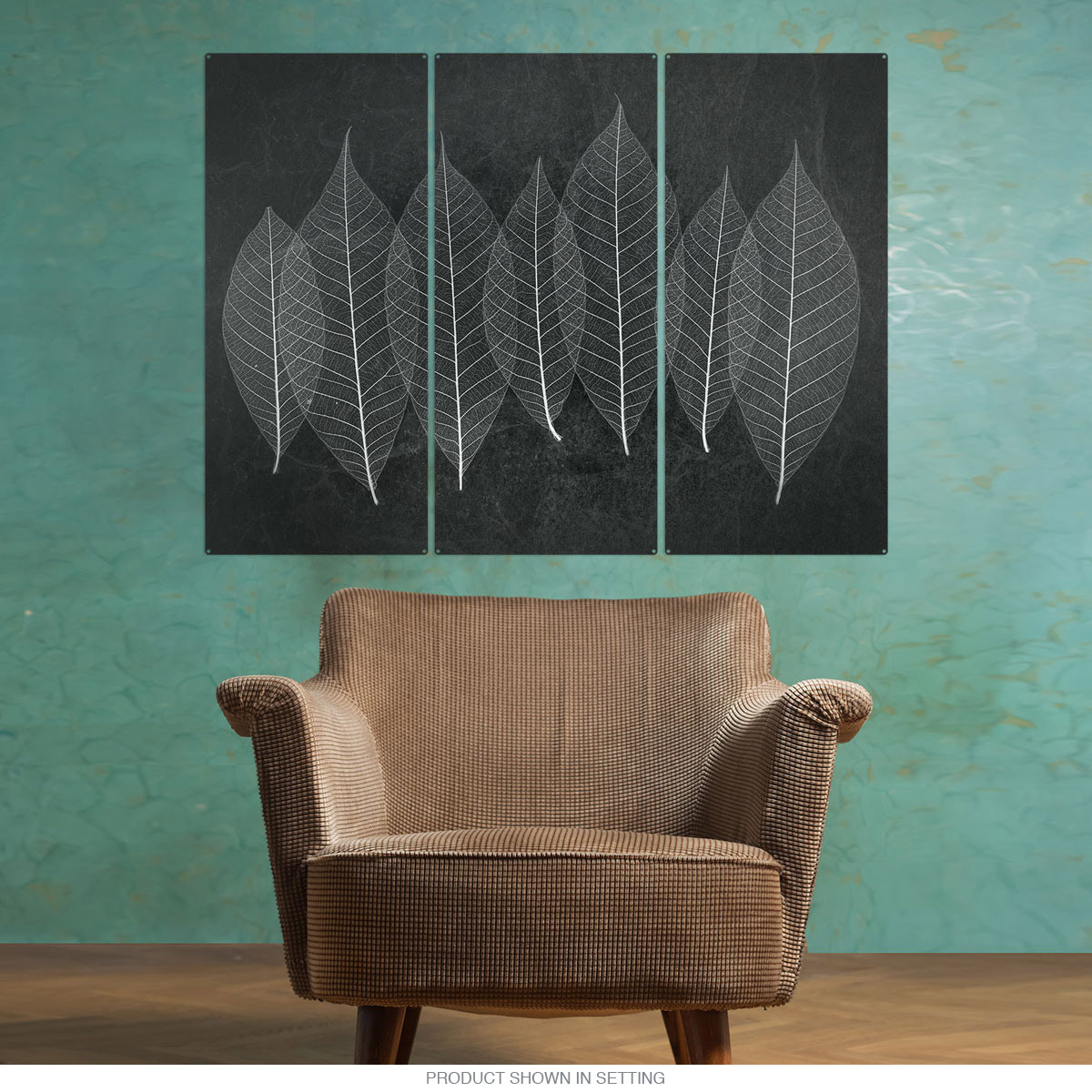 Purchase Leaves X Ray Style Nature Triptych Metal Wall Art