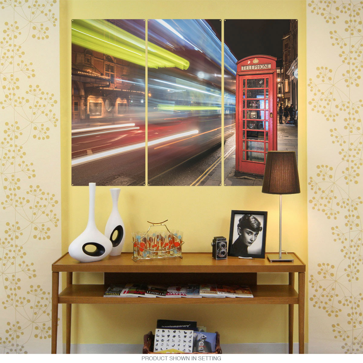 Speed Night London Phone Booth Triptych Metal Wall Art | Large Sign ...